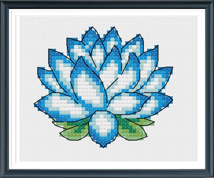 Lotus Cross Stitch Pattern,Needle Pattern,Instantly Download by AprilBeeShop on Etsy