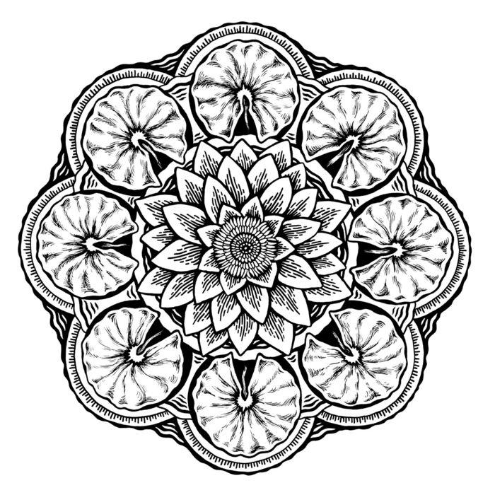 Les 25 meilleures id es concernant comment dessiner une - Comment faire une rosace ...