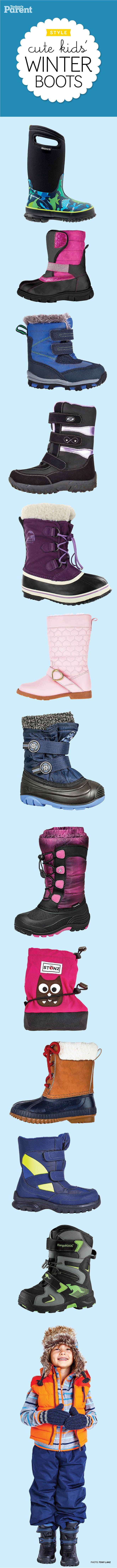 12 cozy winter boots for kids #TodaysParent #KidsWinterBoots