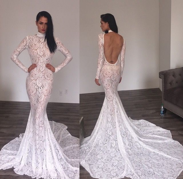 17 best images about gowns on pinterest sexy long prom for High neck backless wedding dress