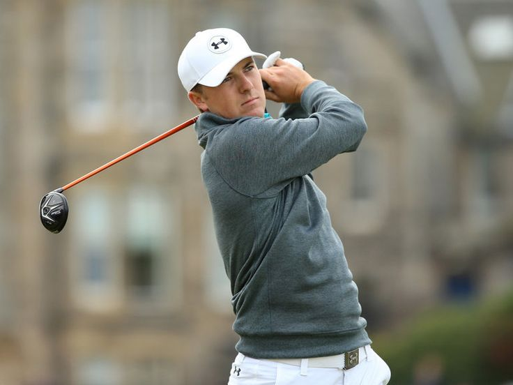 Jordan Spieth was out in 31 but struggled a little coming home on his ...