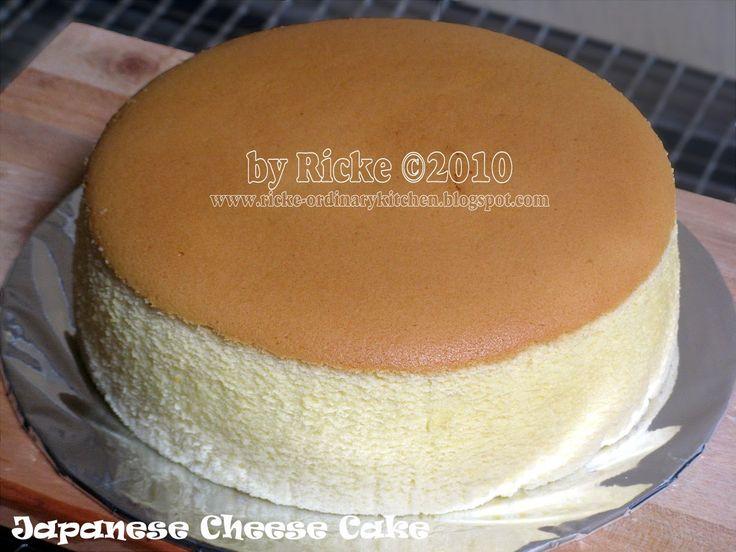 Just My Ordinary Kitchen...: JAPANESE CHEESE CAKE (JCC)