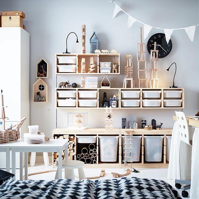IKEAでおもちゃ収納がすっきりオシャレに。実例とおすすめ商品紹介。