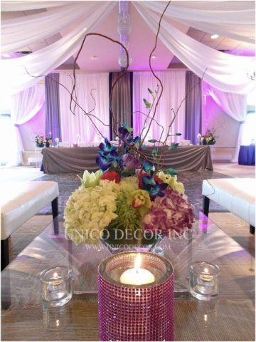 Grand head table design | Moncton Wedding Decor | Unico Decor
