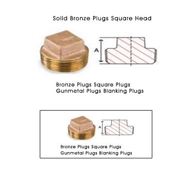 Solid Bronze Plugs Square Head #SolidBronzePlugs  #SquareHeadPlugs  #Bronzeplugs  #CopperPartsComponents India is a manufactures exporters and suppliers of Bronze Solid Plugs Square square plugs bronze pipe square tube fittings  bronze pipe fittings  plumbing plugs  brass pipe plug