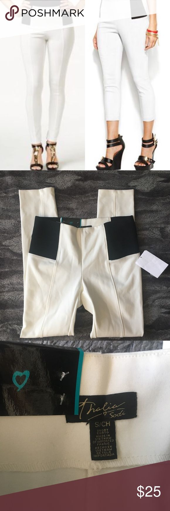 "Skinny leg Capri leggings Waist: 14.5"" total length 37"" inseam 26"".      📊Use size chart for fit  🚫modeling or trades (askers will be ignored) or lowballing  ✅ will consider offers made through BLUE offer button.   ✅ bundle 3 or more items for a custom offer using bundle feature 🌻 Social media: Business Instagram @lovelyinlilacofficial Thalia Sodi Pants Leggings"