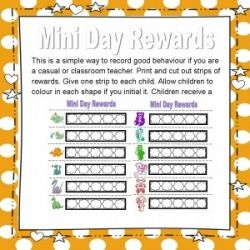 Mini Day Rewards FREE RESOURCE