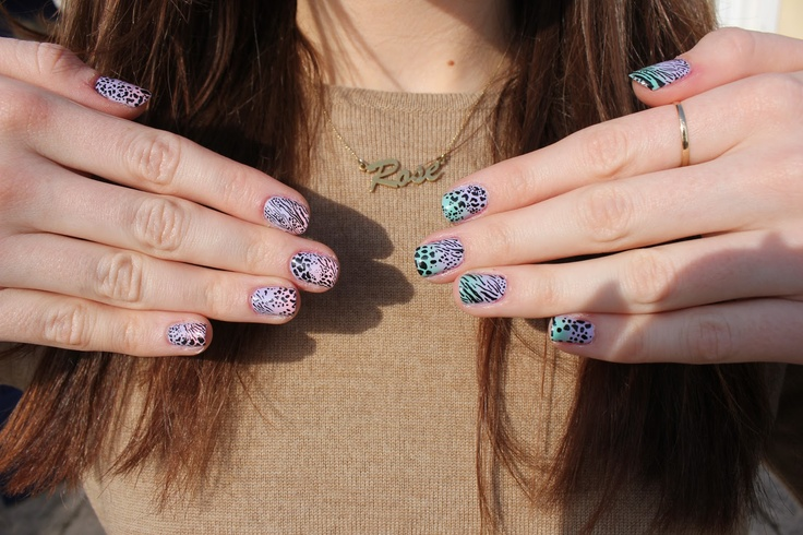 cool mix of animal prints and colors