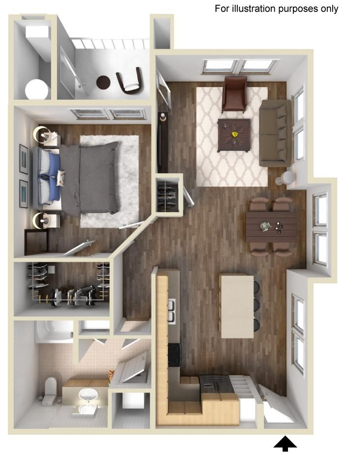 Dartmoor Floor Plan 825 sq ft http://www.gatewayat2534.com/