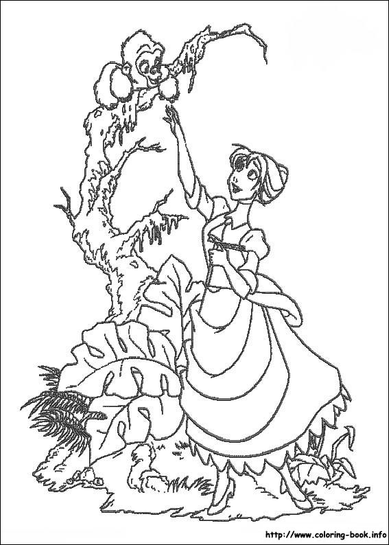 Jane 2 Coloring Page If You Like This Share It With Your Friends They Will Love These Sheets From Tarzan Pages