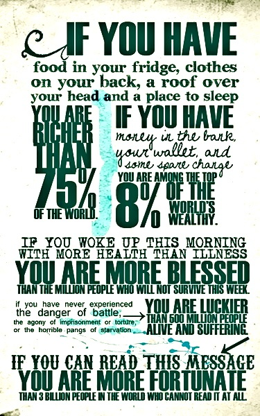 Life is different when you remember to count your blessings!
