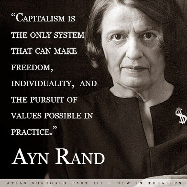Image result for Image of Ayn Rand