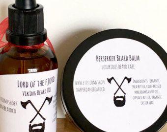 Beard grooming kit. Christmas gift for men. Beard oil kit. Beard balm. Groomsman gift. Viking beard oil. Beard oil beard balm in one set!