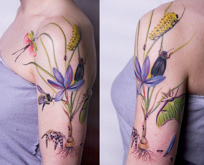 I love the bee. ~ AMANDA WACHOB tattoo artist