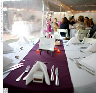 Wedding Centerpieces Mirrors And Vases Table Runner Plum   Bing Images