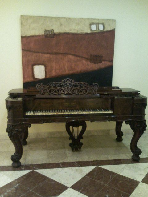 LEMUEL GILBERT and M. C. Turer PIANO FORTE. Made in Boston in 1883. Square Grand 85 key Piano. Ivory & Mother of pearl keys. There are just 9 pianos made of this edition, one belongs to Hank's New Orleans Café & Oyster Bar  in Mexico since 1994 and the other 8 are into different museums around the world. FOR SALE!