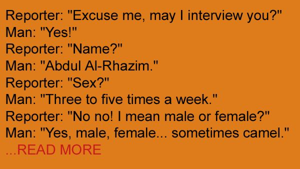 A reporter interviews a guy named Abdul - the responses are just too hilarious!