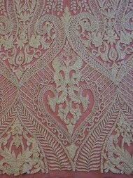 Show more information on Ivory Hand Beaded Lace - Jaxton