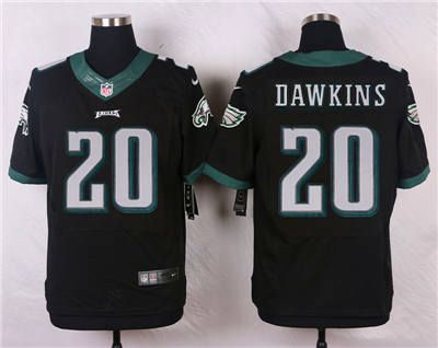 Nike Philadelphia Eagles #20 Brian Dawkins Blank Black Elite Jersey