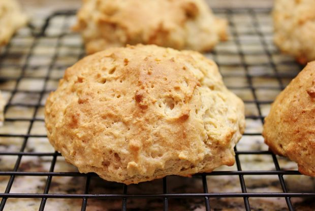 Gluten Free Drop Biscuits #recipe #bread #baking