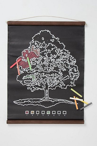 Thanksgiving Kids' Table Activity| Tree Chalkboard Scroll #anthropologie #modernthanksgiving