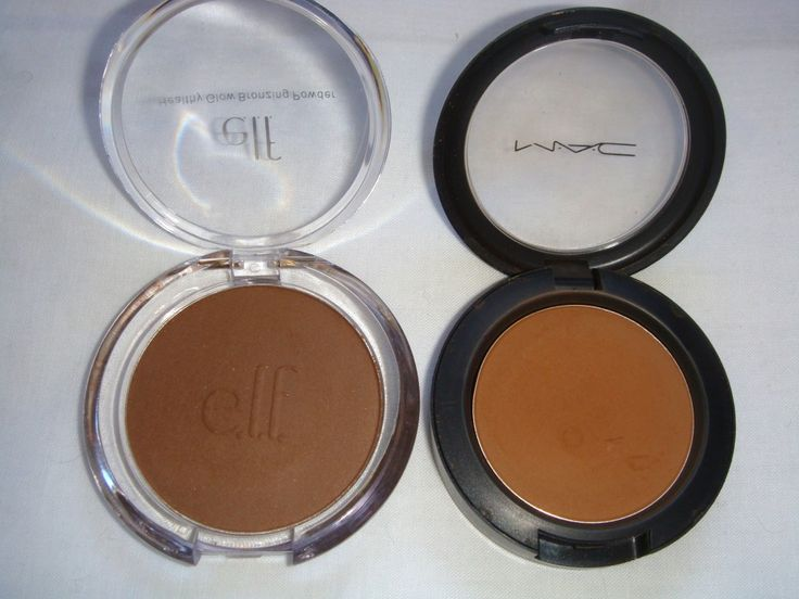 "e.l.f. Matte Bronzer vs. MAC Sculpting Powder. Wow it looks even better less ""orange"".."