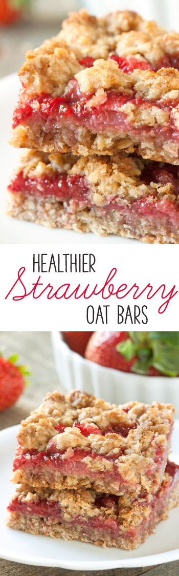 Strawberries and strawberry jam are sandwiched between a buttery streusel-like mixture in these 100% whole grain strawberry oat bars! With a vegan and dairy-free option. (Sugar Free Apple Butter)