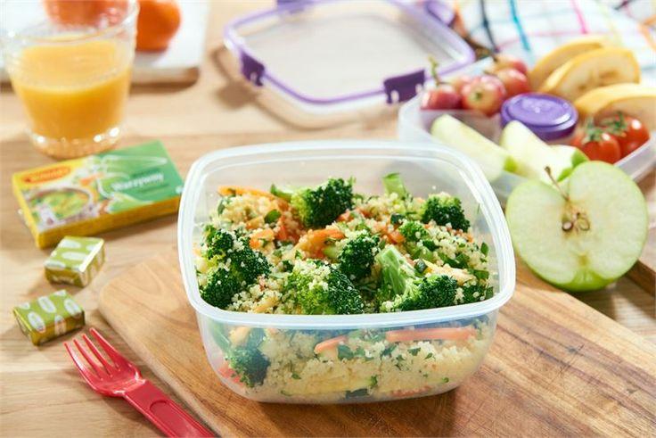 Sałatka kuskus z brokułami i cukinią na ciepło i na zimno