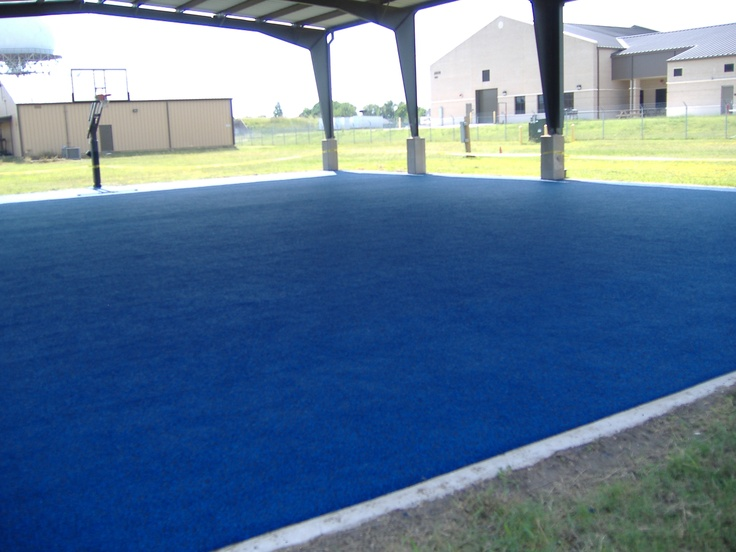 Covered Outdoor Basketball Court With No Fault Safety