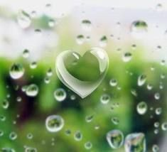 raindrops | GREEN ..such a pretty color | Pinterest | Heart, Heart shapes and My heart