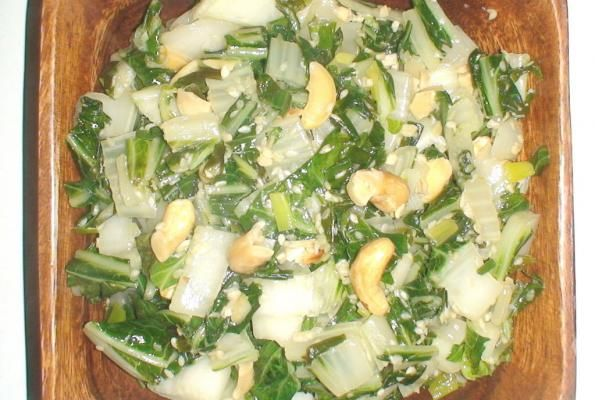 Baby Bok Choy With Cashews | VegWeb.com, The World's Largest ...