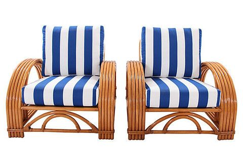 Ficks Reed Bamboo Armchairs Pair Ficks Reed Furniture