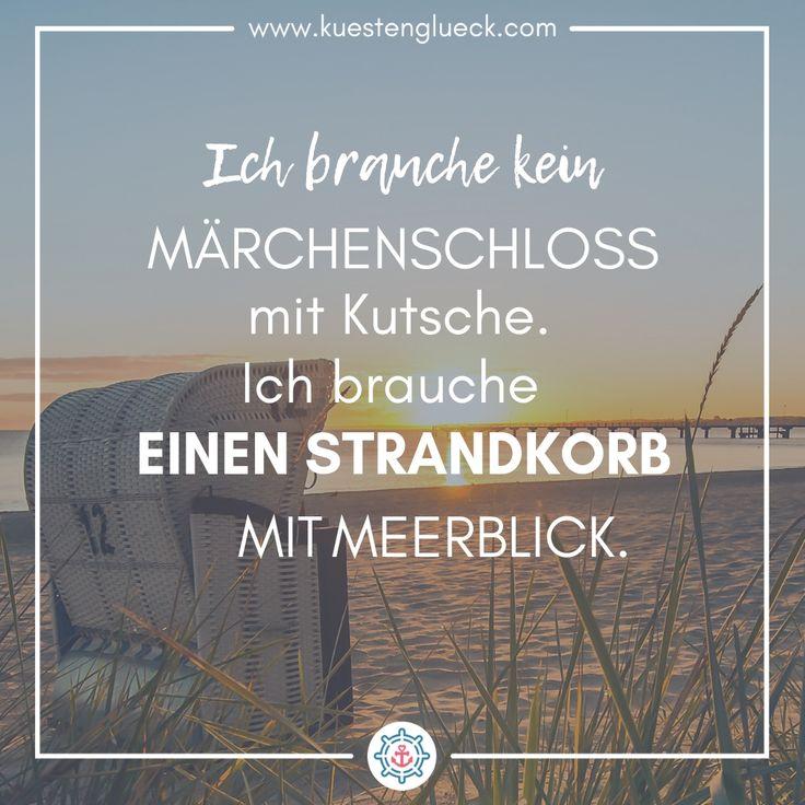 Strandkorb mit Meerblick I Spruch I KÜSTENGLÜCK