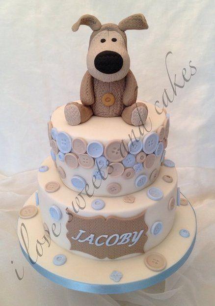 Boofle Bear Christening Cake