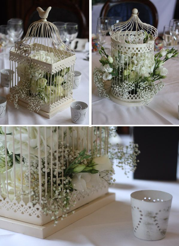 Birdcage wedding table centerpiece whitewedding