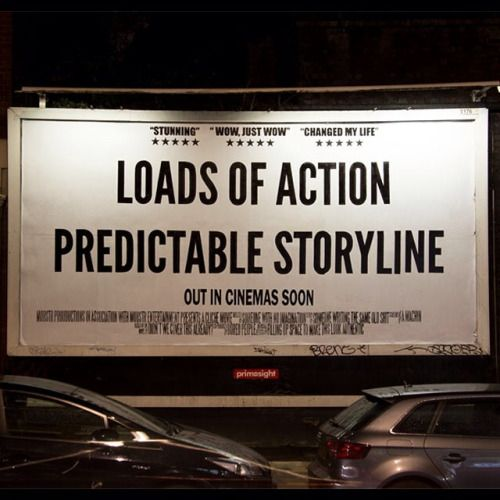 If your story isn't surprising it's probably predictable.