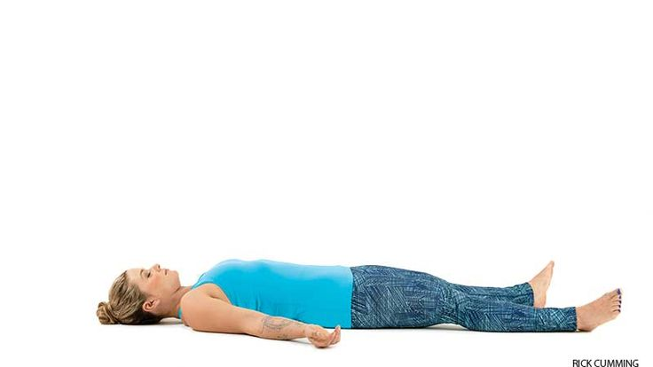 Corpse Pose for neck and shoulder strain.