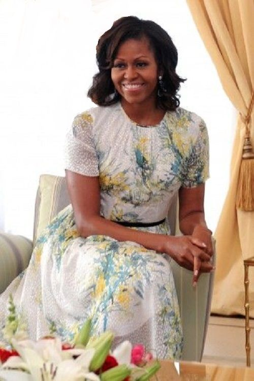 Celebrity Pear - Michelle Obama