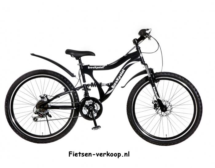 Jongensfiets Breakpoint Zwart 26 Inch | bestel gemakkelijk online op Fietsen-verkoop.nl