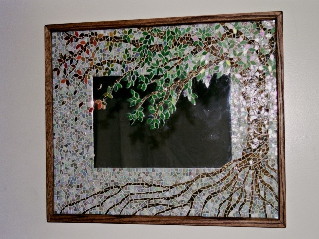 The 194 best images about mosaic mirrors frames on for Glass and mirror craft