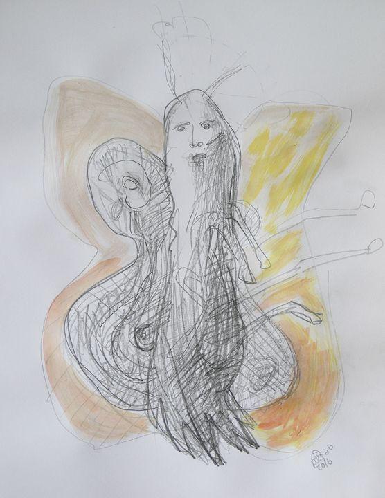 """The Yellow Butterfly"" Original Art - Vanyska Design"