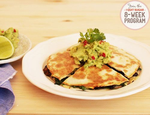 IQS 8-Week Program - Sweet Potato and Black Bean Quesadilla