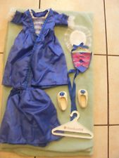 Retired American Girl Doll Clothes Felicity Blue Holiday Gown & Accessories Lot
