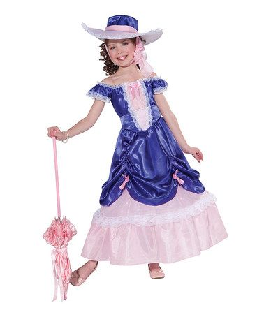 Take a look at this Blue Blossom Southern Belle Dress-Up Oufit - Girls by Forum Novelties on #zulily today!