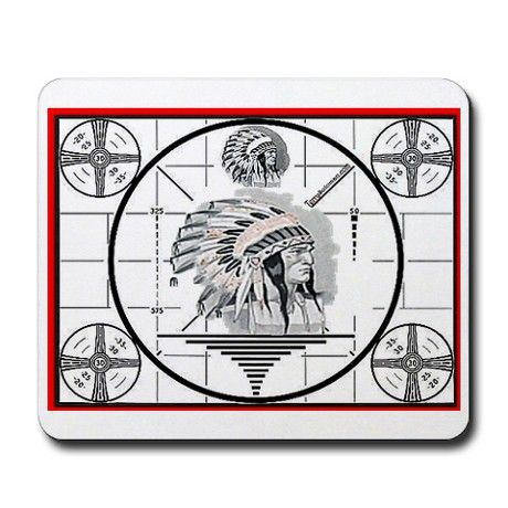 TV Test Pattern Indian Chief Mousepad
