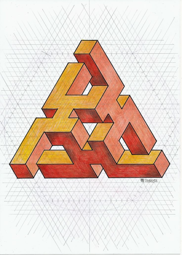 #impossible #isometric #penrose #triangle #oscarreutersvärd #escher #mathart #regolo54 #pencil #handmade