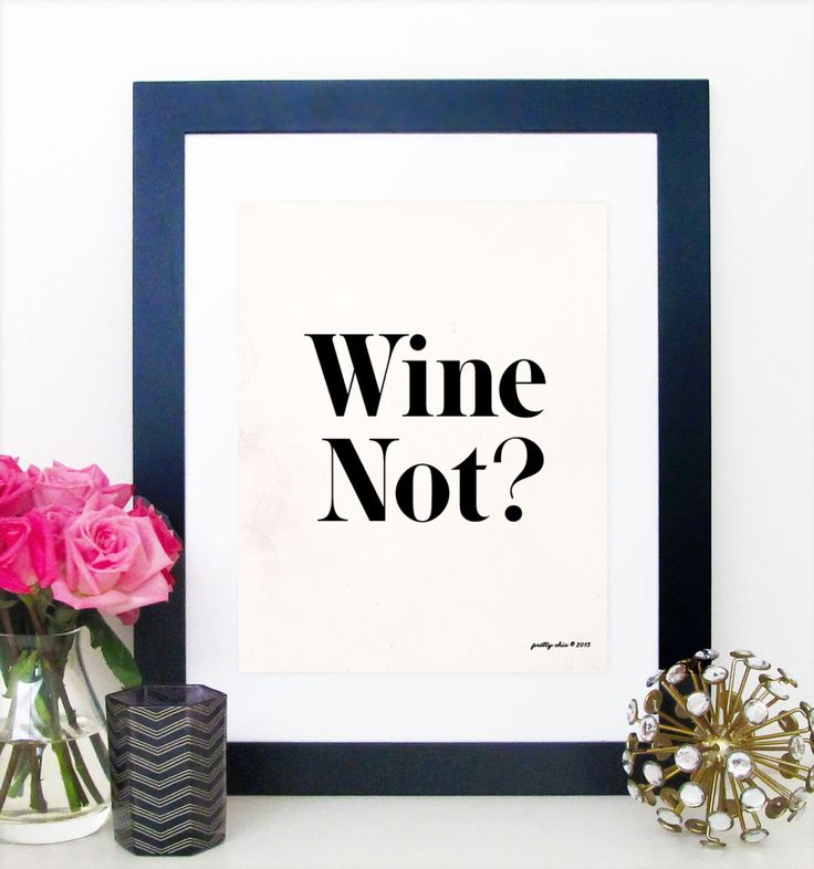 Wine Not? Print - Wino - Wine Art - Happy Hour - Bar Cart - Bar Sign - Kitchen…