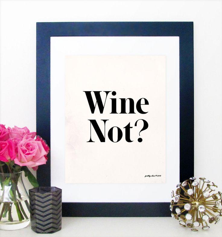 Wine Not Print Wino Wine Art Happy Hour Bar Cart