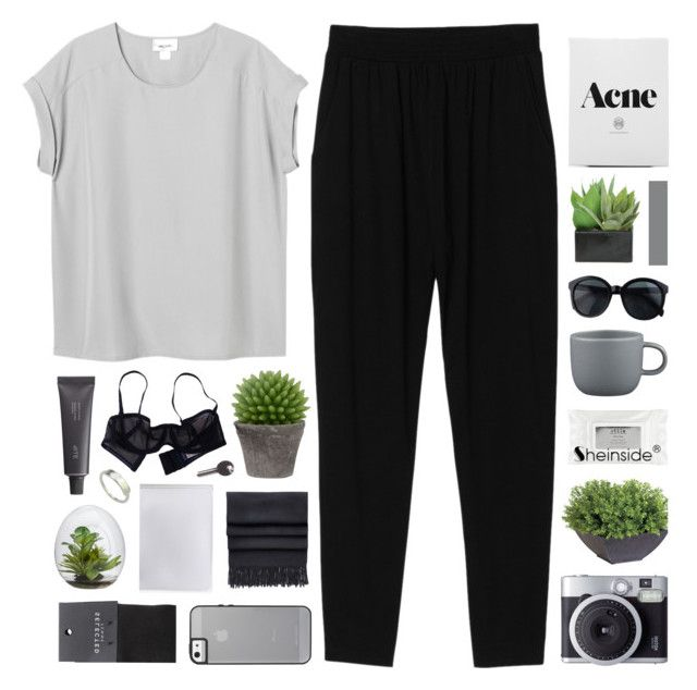 I CAN'T GET ENOUGH, AUTOMATIC LOVE by feels-like-snow-in-september on Polyvore featuring Monki, SELECTED, Eres, Acne Studios, Maison Margiela, Bite, Ethan Allen, Broste Copenhagen, Lux-Art Silks and CB2