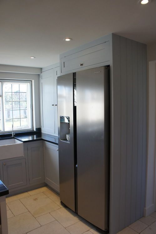 Traditional shaker style kitchen, housing an American fridge freezer!